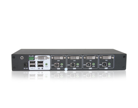 TITAN 4 Port Desktop DVI KVM Switch mit 4 Ports remote sw
